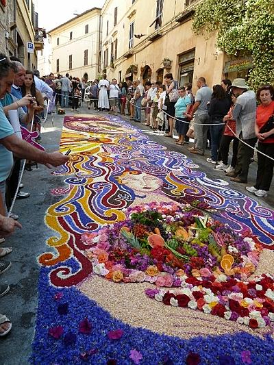 Spello flower festival, Umbria, Italy