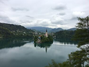 Bled island pano
