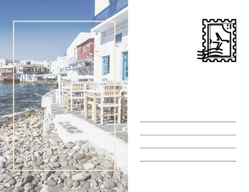 Greek Islands Fantasy Postcard